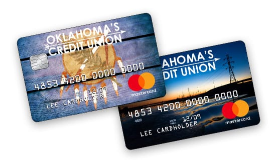 OKCU credit card design examples