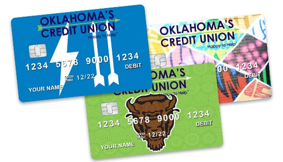three debit rewards cards from Oklahoma's Credit Union